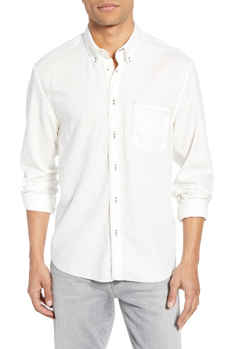 BILLY REID Tuscumbia Standard Fit Shirt, Main, color, WHITE