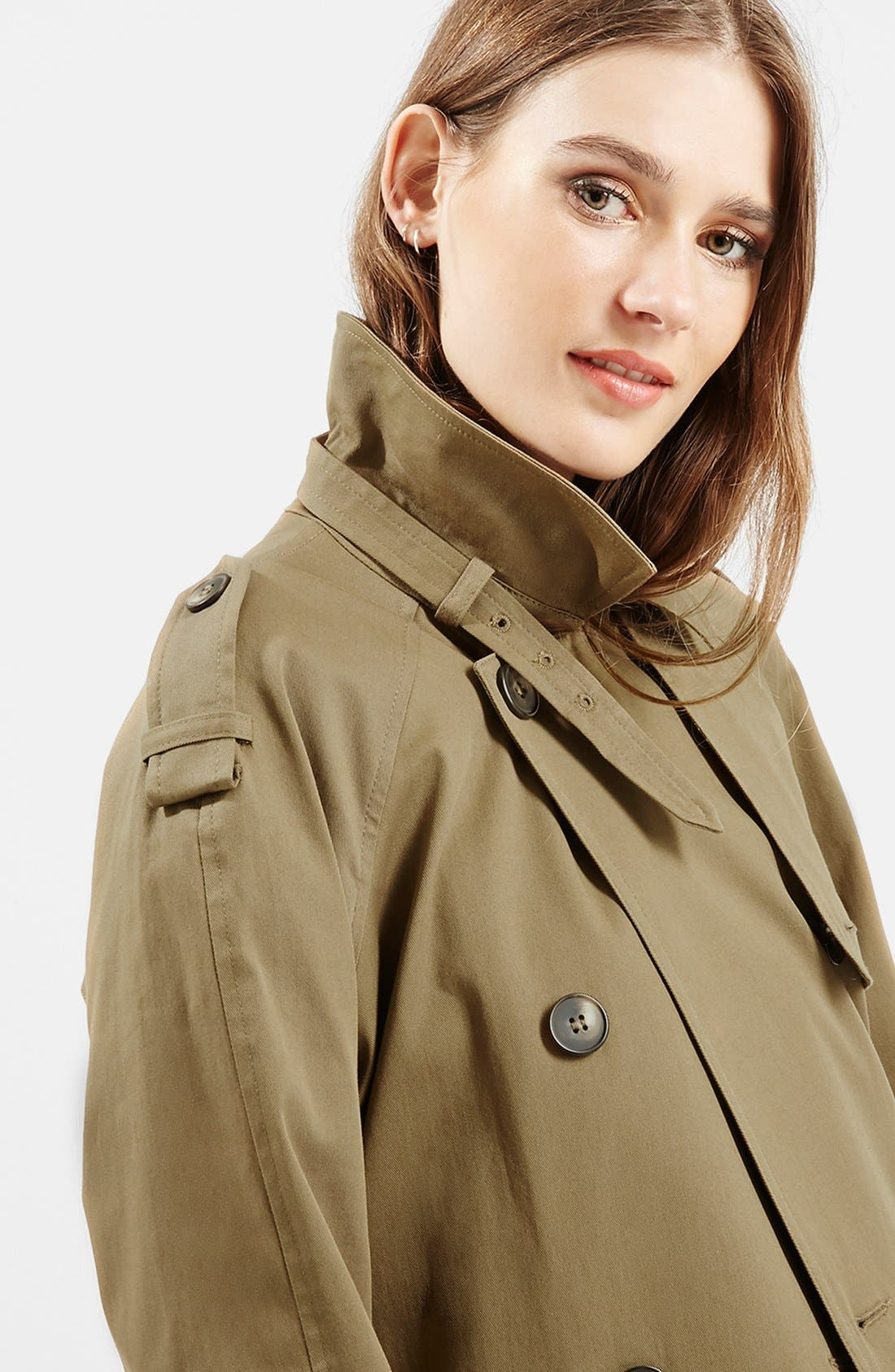 ,                             Double Breasted Cotton Trench,                             Alternate thumbnail 6, color,                             300