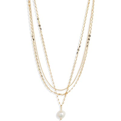 Jules Smith Layered Imitation Pearl Necklace
