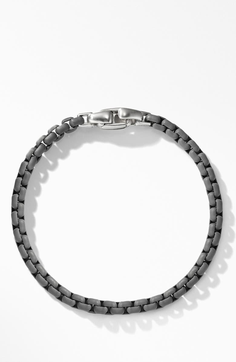 DAVID YURMAN Box Chain Bracelet, Main, color, GREY