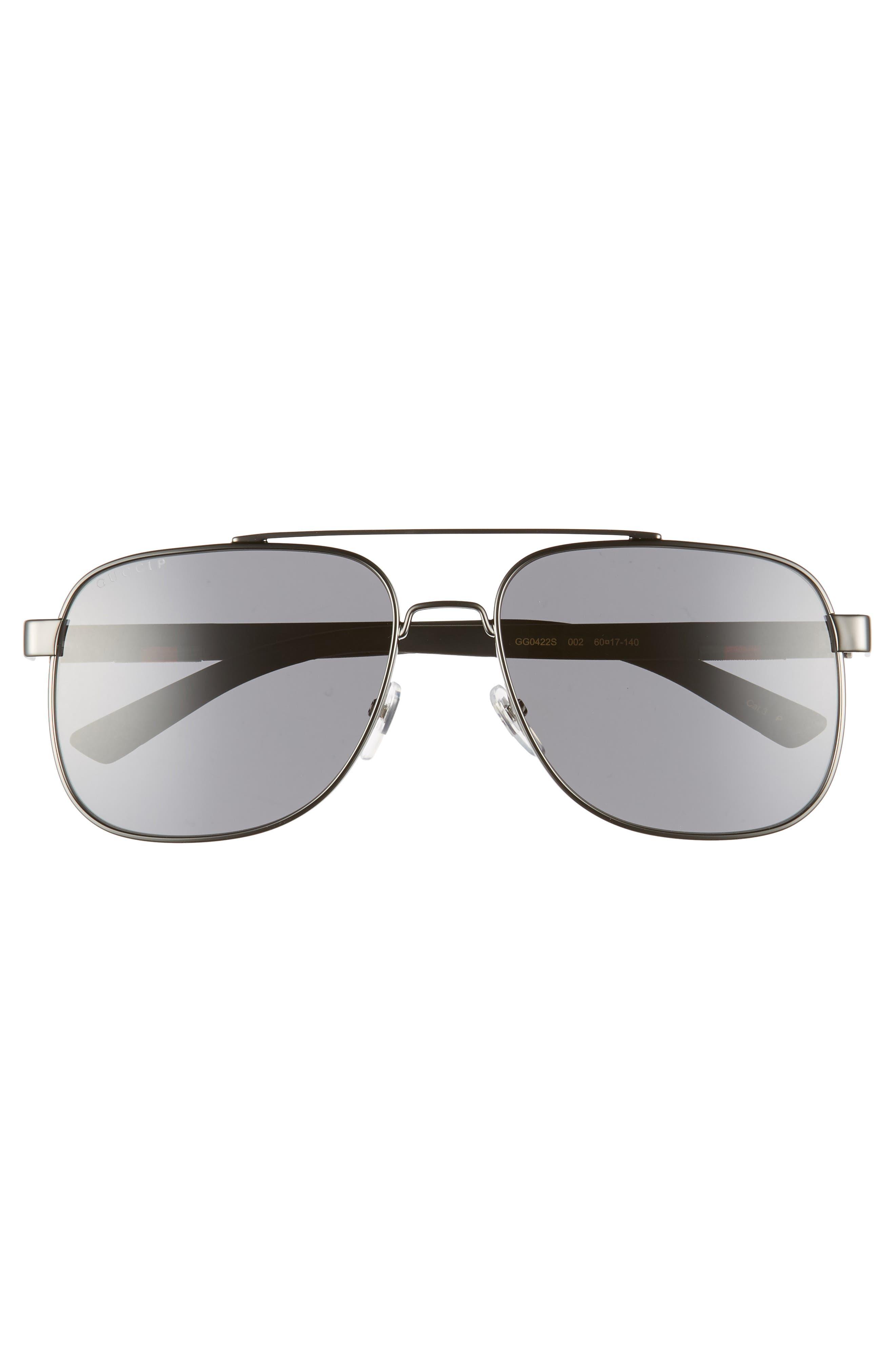 ,                             Navigator 60mm Polarized Aviator Sunglasses,                             Alternate thumbnail 3, color,                             RUTHENIUM