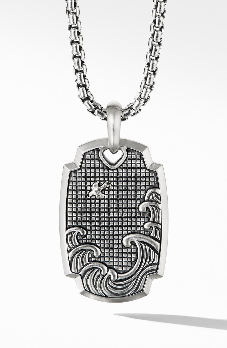 DAVID YURMAN Waves Pendant, Main, color, SILVER