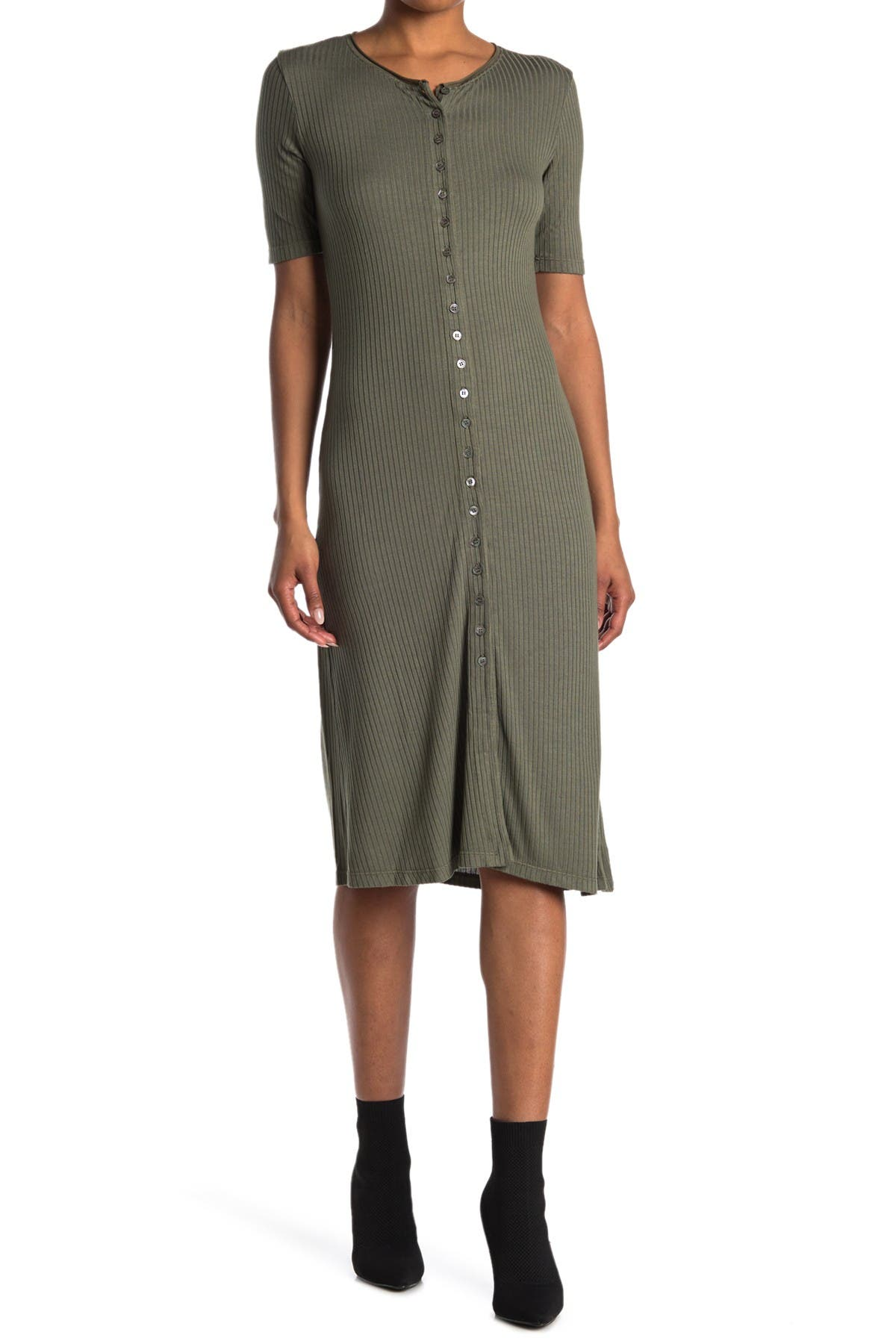 Image of Stateside Rib Maxi Button Up Dress
