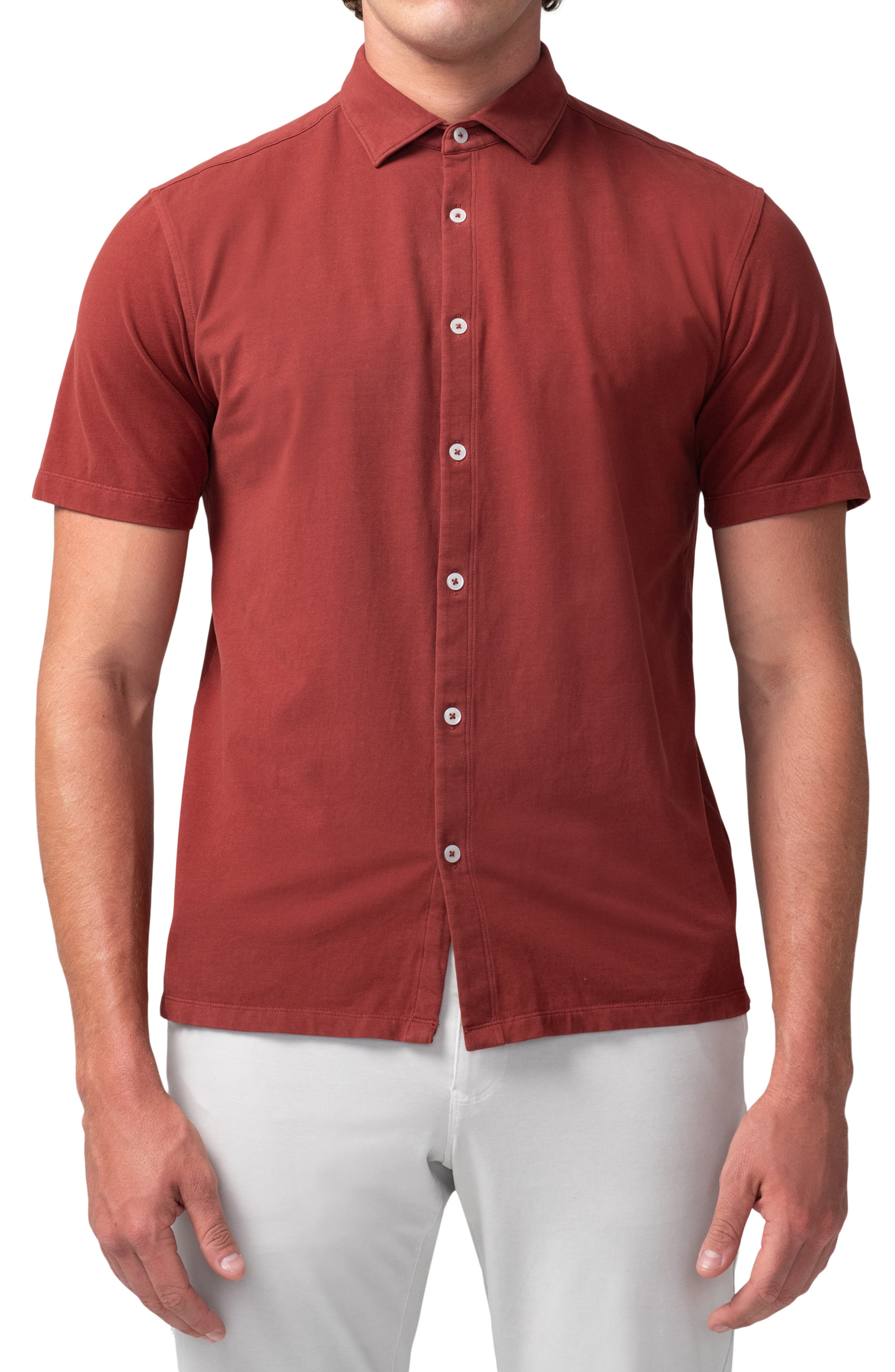 Flex Pro Lite Short Sleeve Stretch Cotton Button-Up Shirt