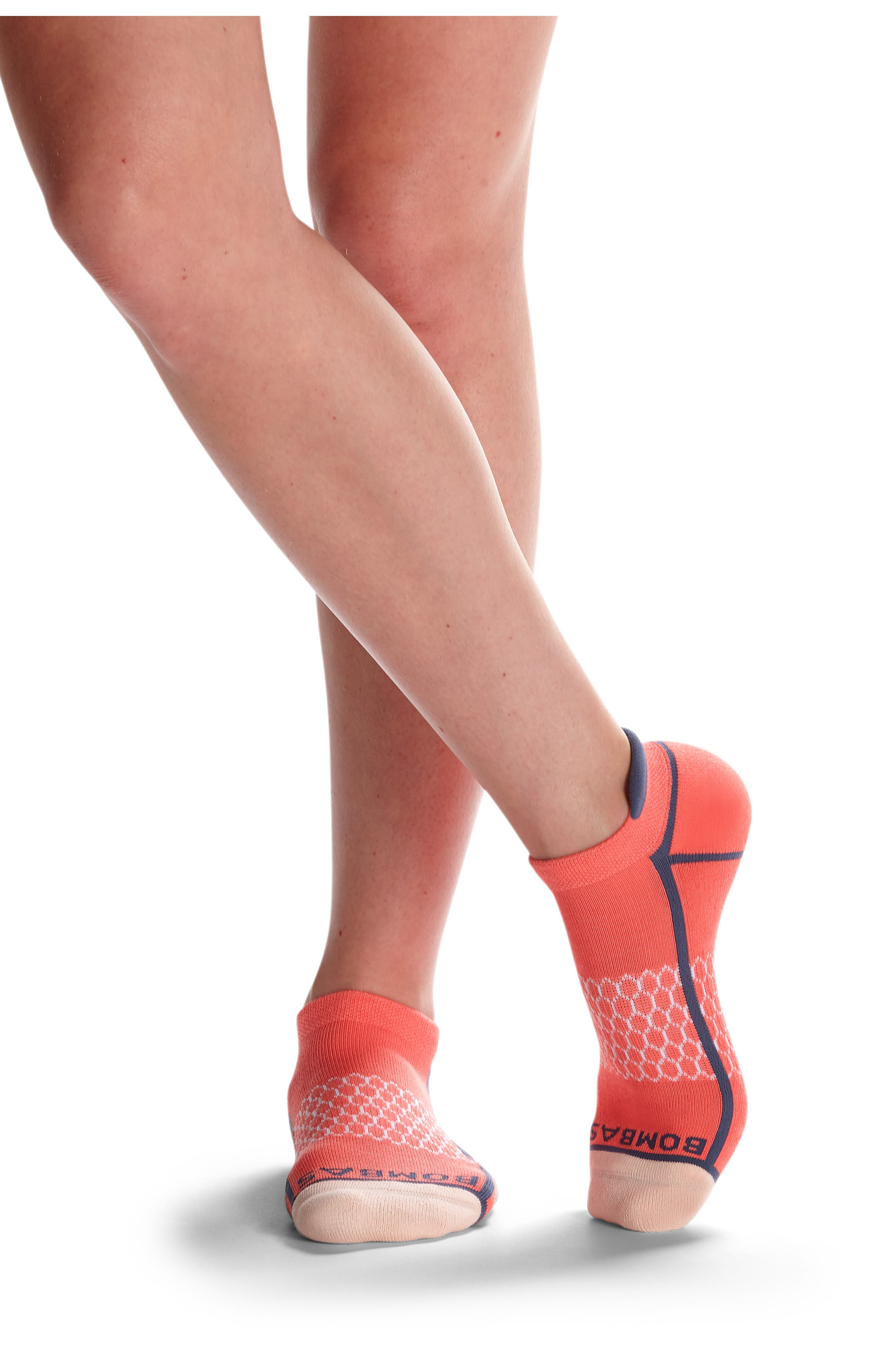 Neon Tipping Border Ankle Socks