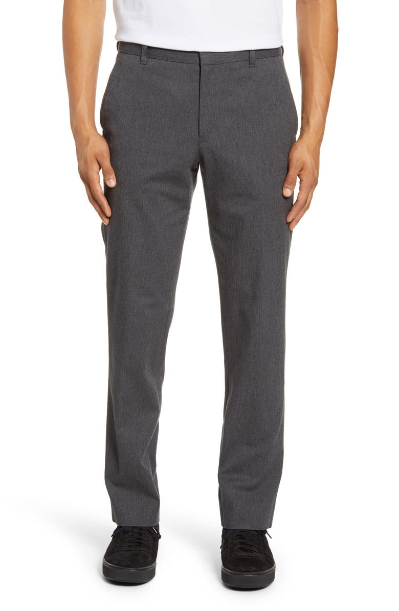 VINCE Griffith Regular Fit Chinos, Main, color, HEATHER MEDIUM GREY