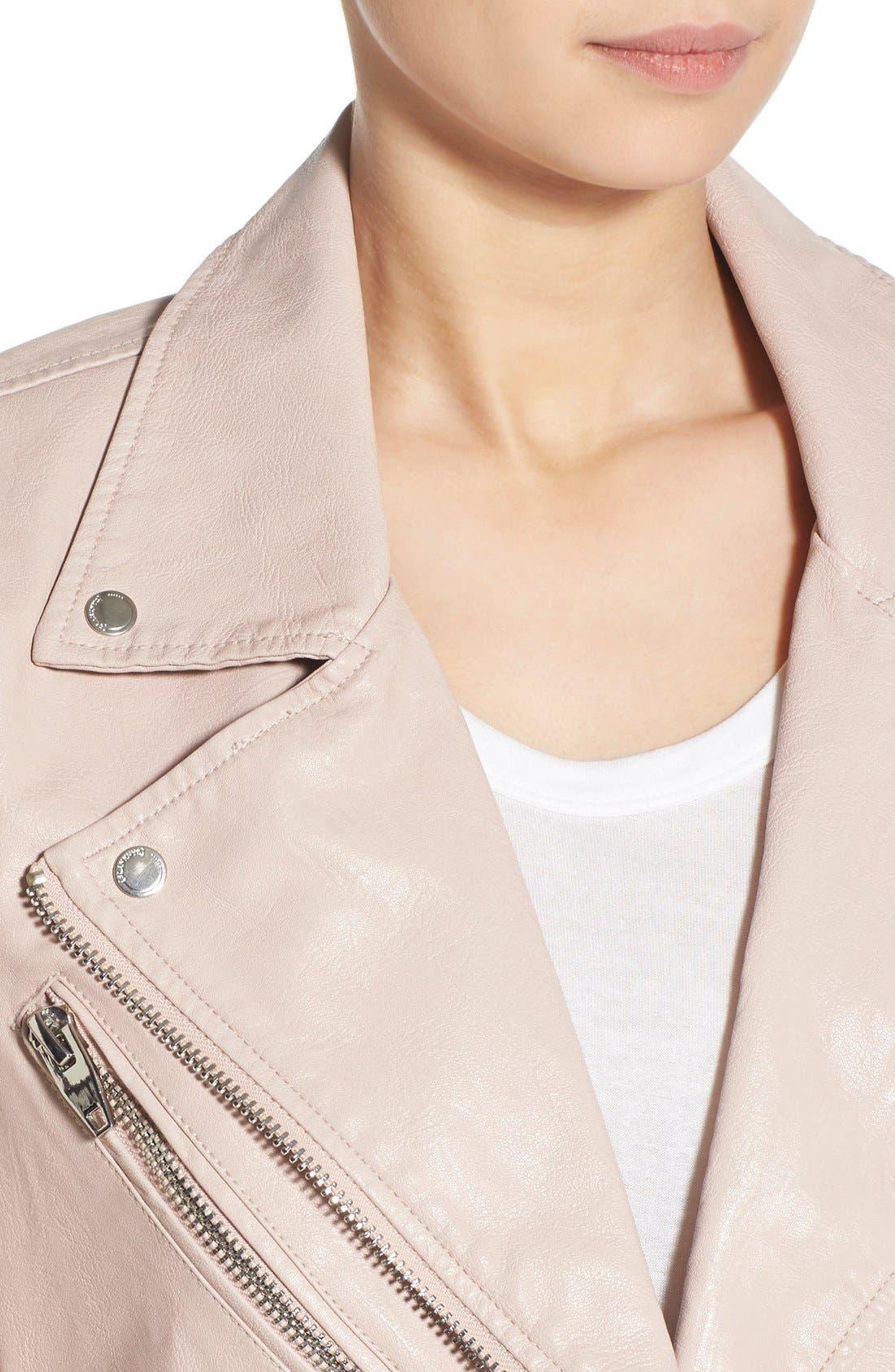 ,                             Faux Leather Moto Jacket,                             Alternate thumbnail 19, color,                             681