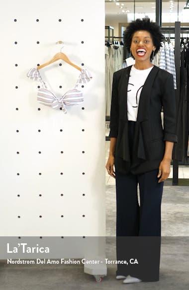 Salt Shore Cap Sleeve Bikini Top, sales video thumbnail