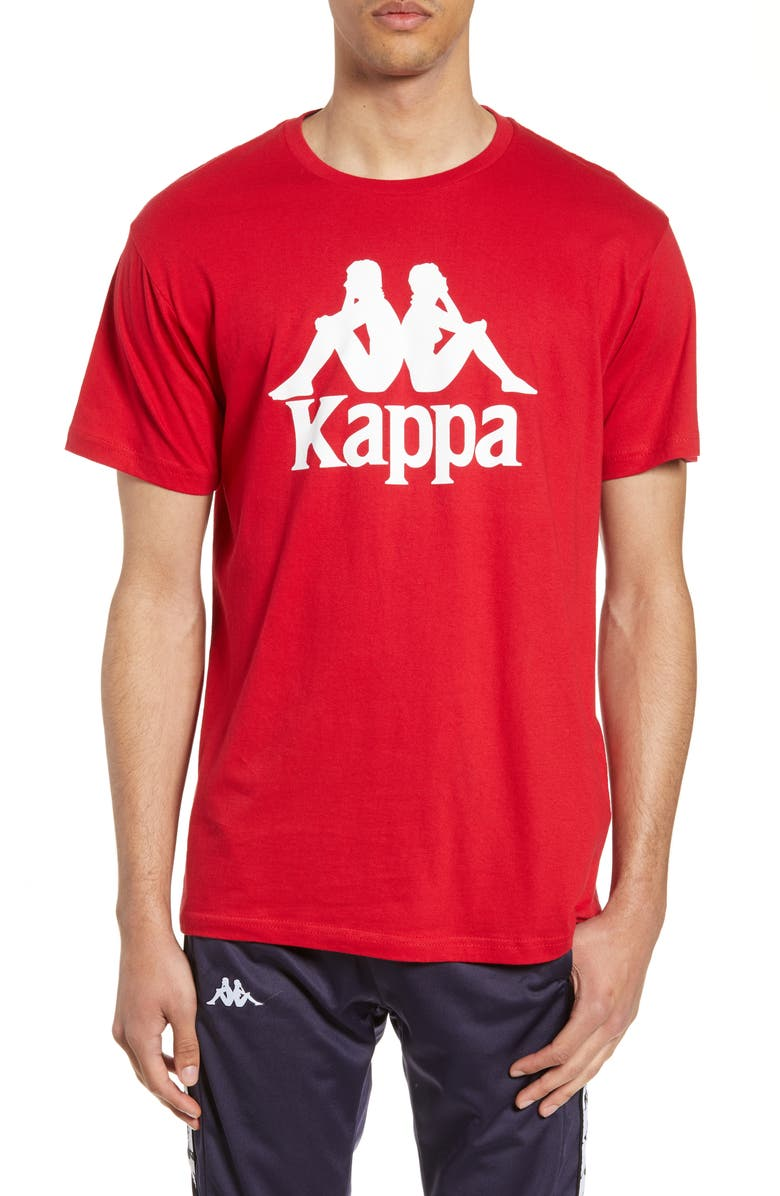 KAPPA Authentic Estessi Logo T-Shirt, Main, color, RED