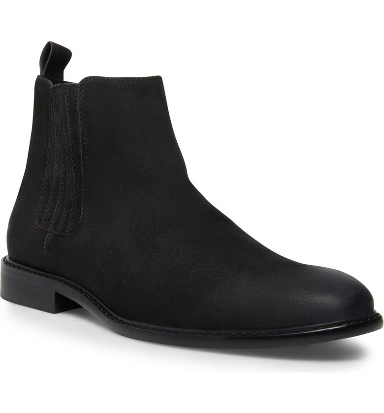 STEVE MADDEN Apexx Chelsea Boot, Main, color, BLACK NUBUCK