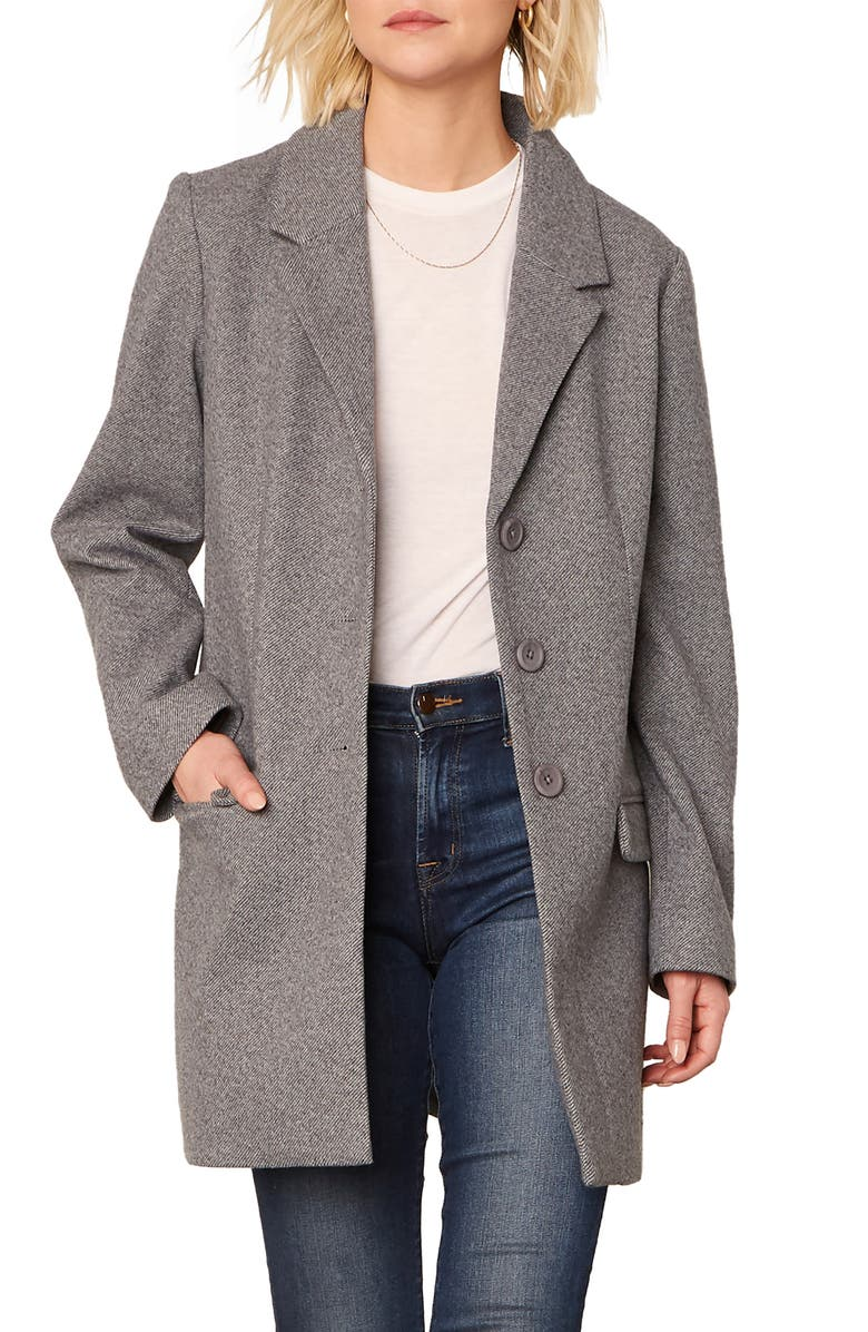 BB DAKOTA Whiskey Business Coat, Main, color, HEATHER GREY