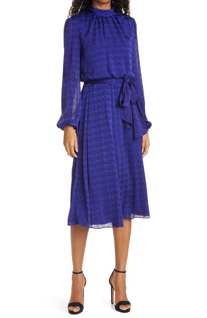 Ted Baker Dresses WILMER HOUNDSTOOTH LONG SLEEVE DRESS