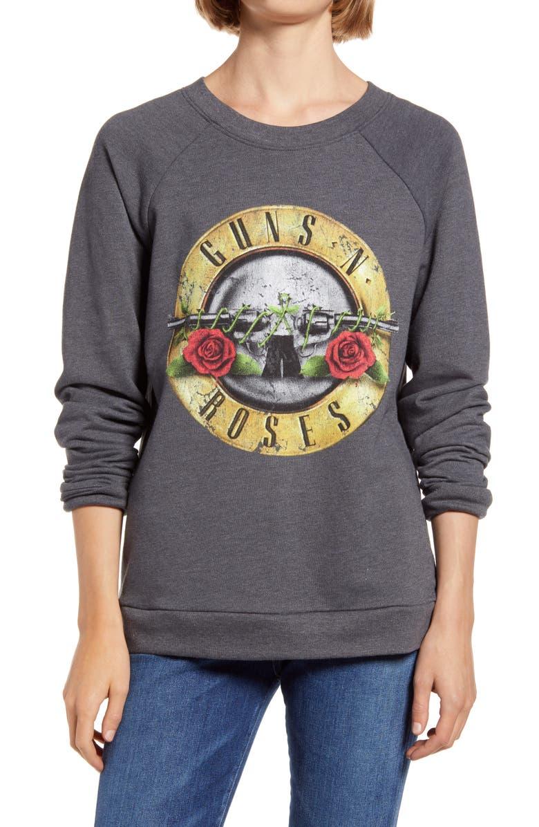 TREASURE & BOND Band Graphic Sweatshirt, Main, color, GREY- ROSES