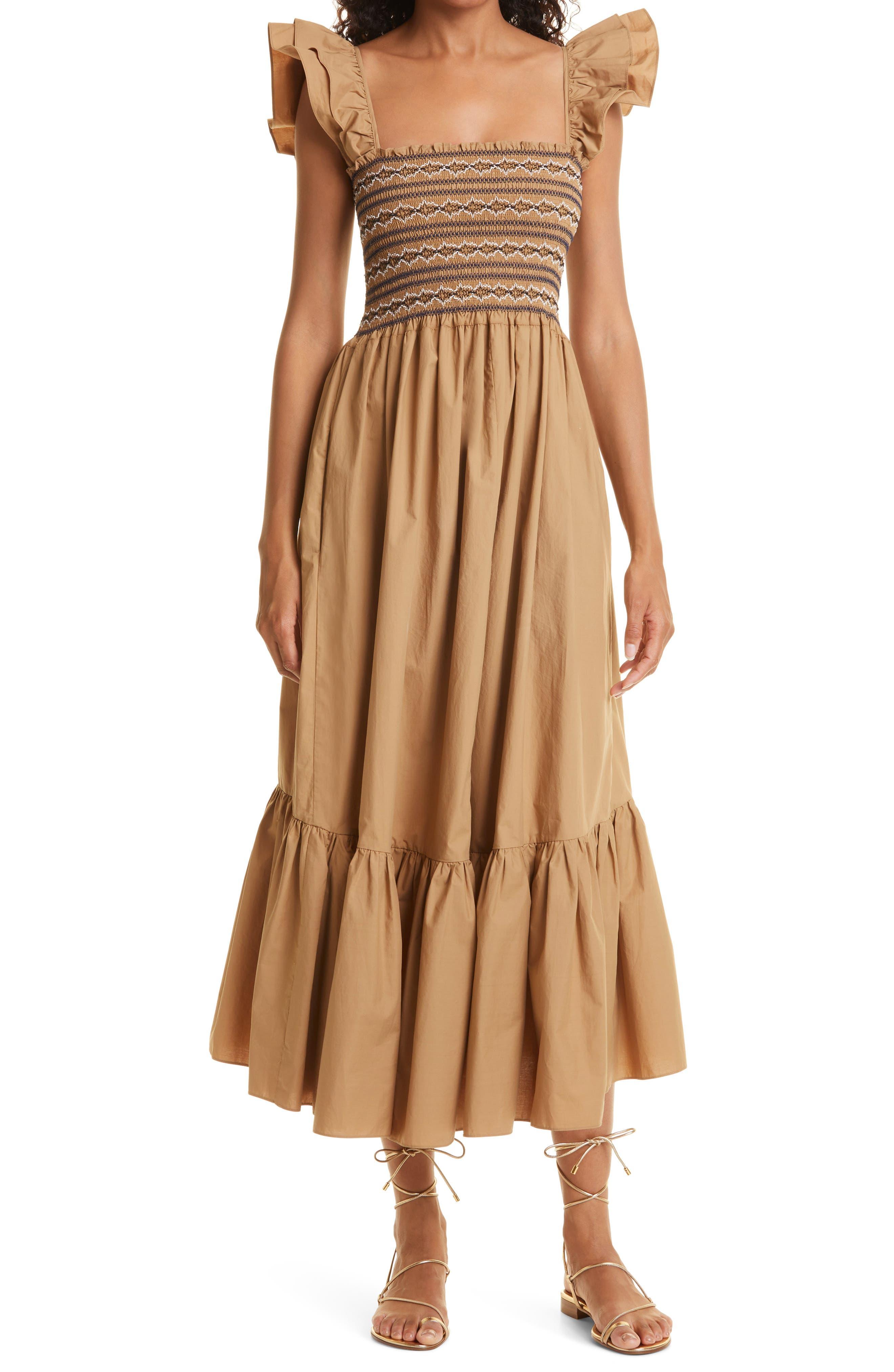 Ruby Flutter Sleeve Maxi Dress