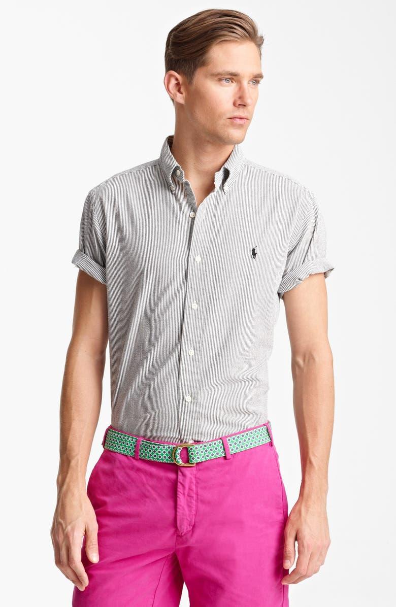 3769d910 Short Sleeve Seersucker Sport Shirt