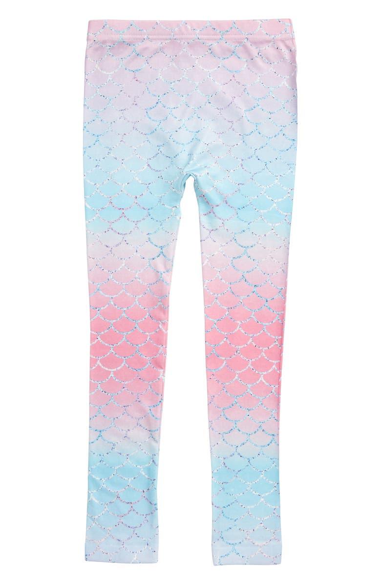 CAPELLI NEW YORK Mermaid Scale Leggings, Main, color, PALE MULTI