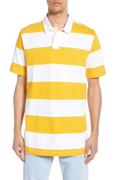 3be5c5615e2 Tommy Jeans Tjm Block Stripe Short Sleeve Polo In Radiant Yellow / Classic  White