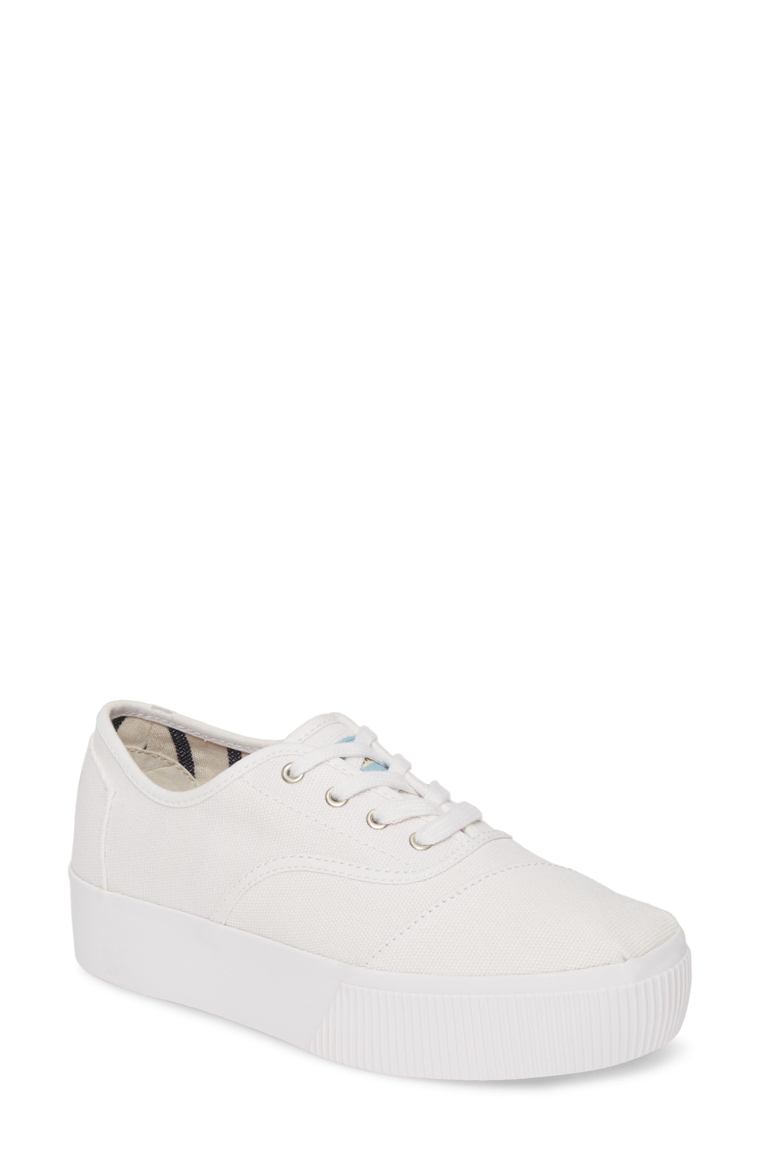 Toms Cordones Boardwalk Sneaker- White