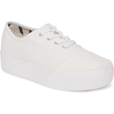 Toms Cordones Boardwalk Sneaker, White