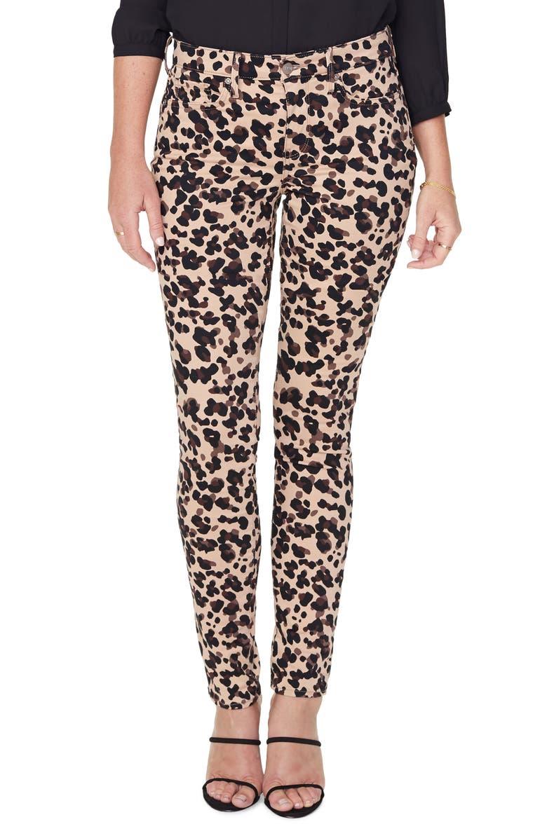 NYDJ Alina High Waist Stretch Skinny Jeans, Main, color, WILDCAT