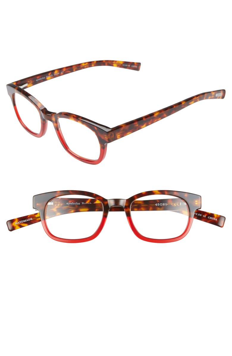 EYEBOBS Butch 45mm Reading Glasses, Main, color, RED WITH TORTOISE