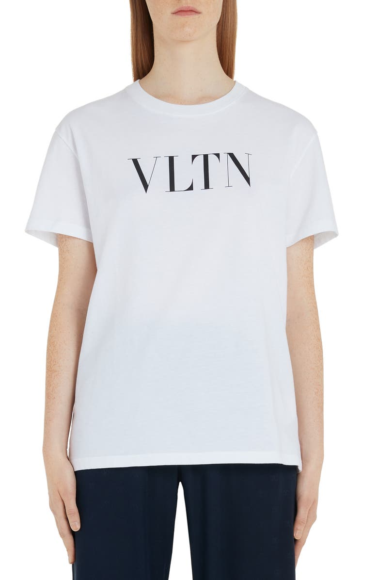 VALENTINO VLTN Logo Tee, Main, color, WHITE/ BLACK
