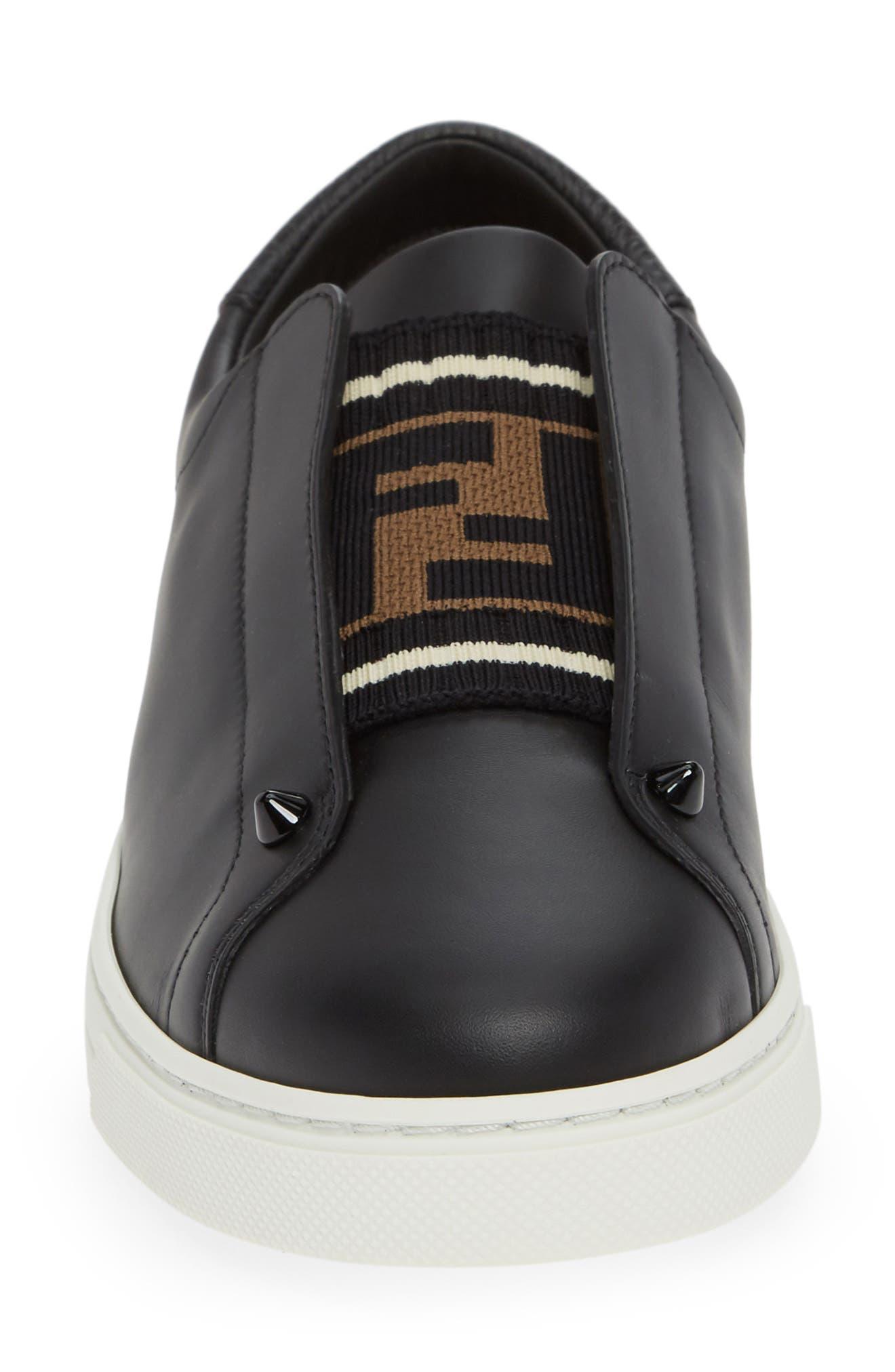 ,                             Rockoclick Knit Logo Slip-On Sneaker,                             Alternate thumbnail 4, color,                             BLACK