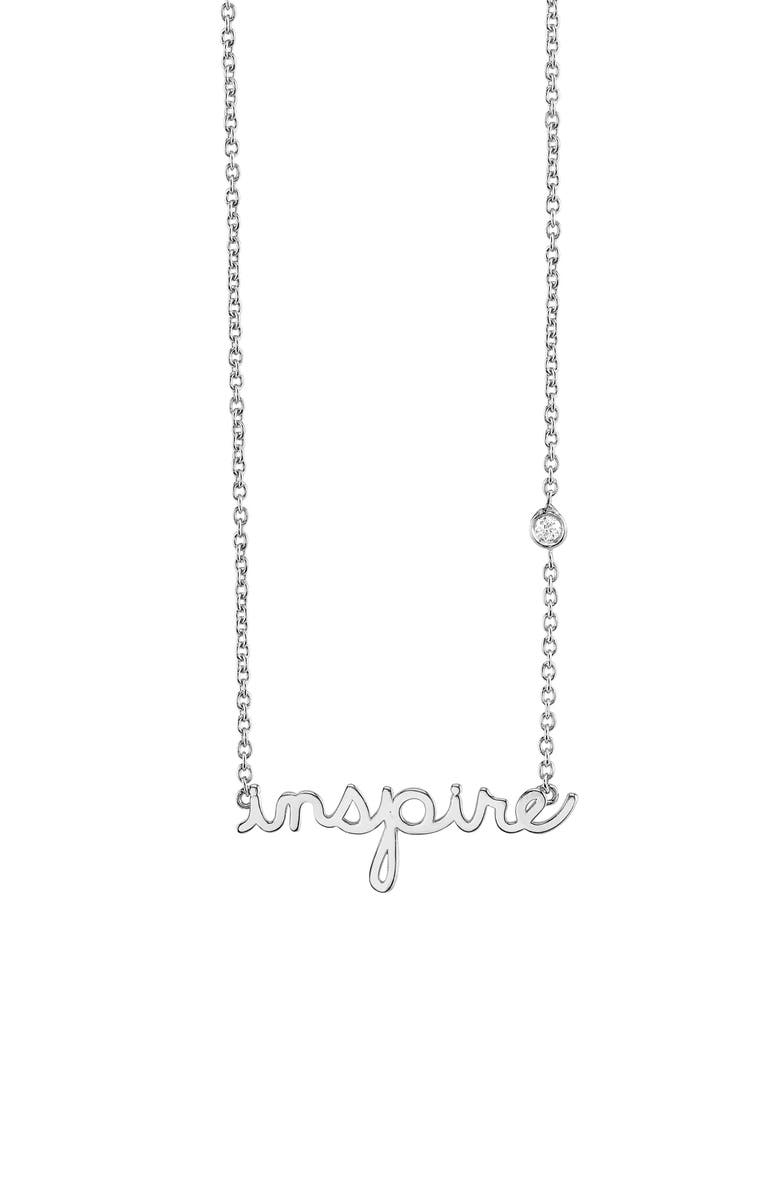 SYD BY SYDNEY EVAN Inspire Necklace, Main, color, SILVER