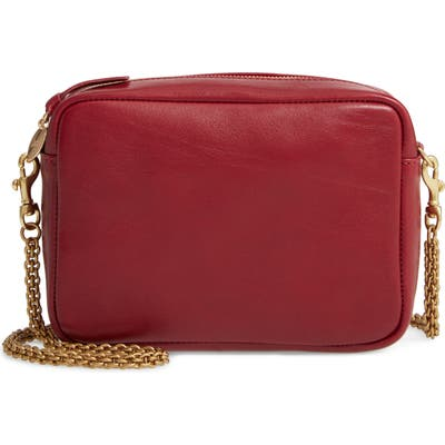 Clare V. Leather Crossbody Bag - Red