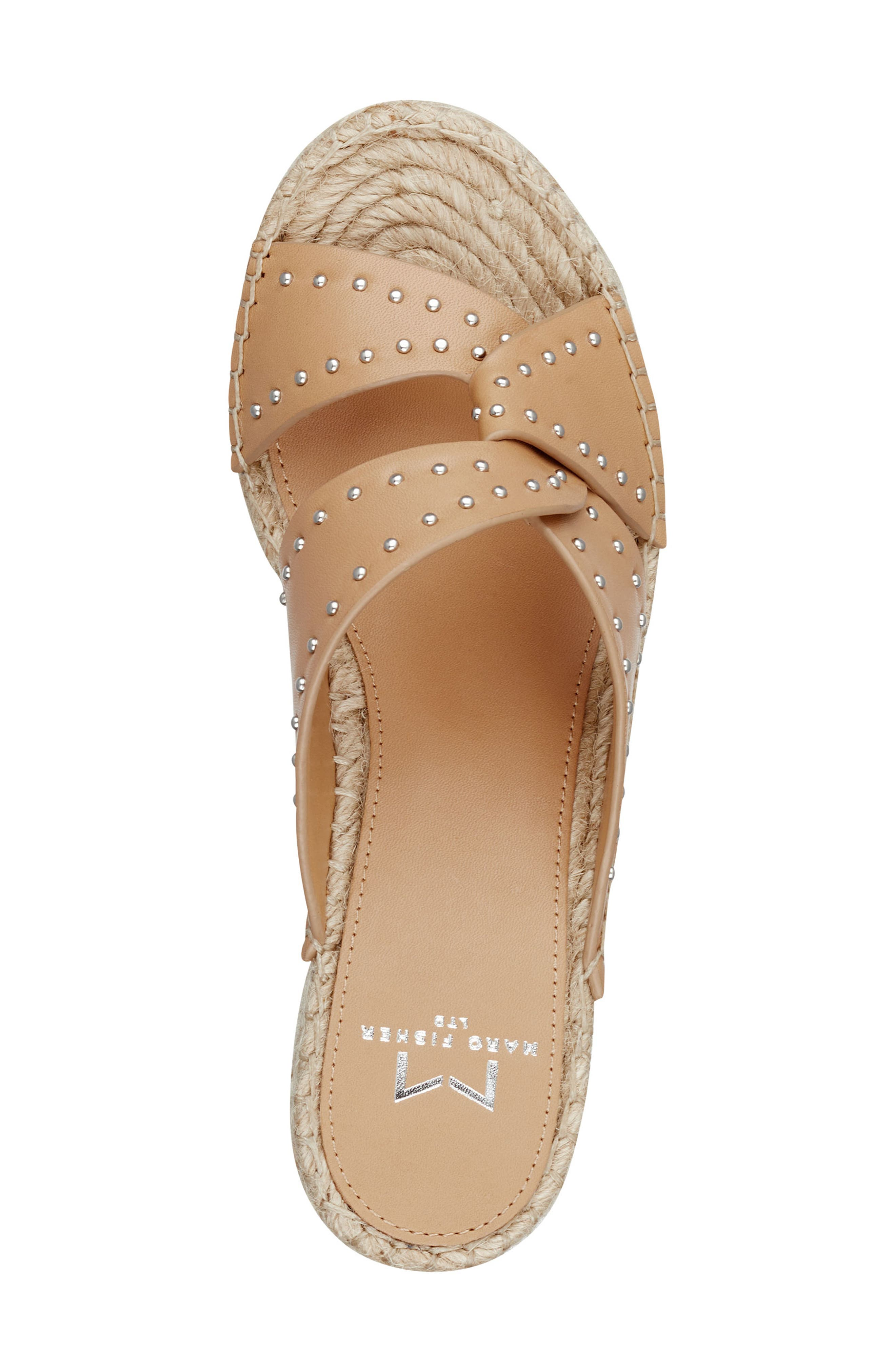 ,                             Angelina Espadrille Wedge,                             Alternate thumbnail 5, color,                             TAN LEATHER