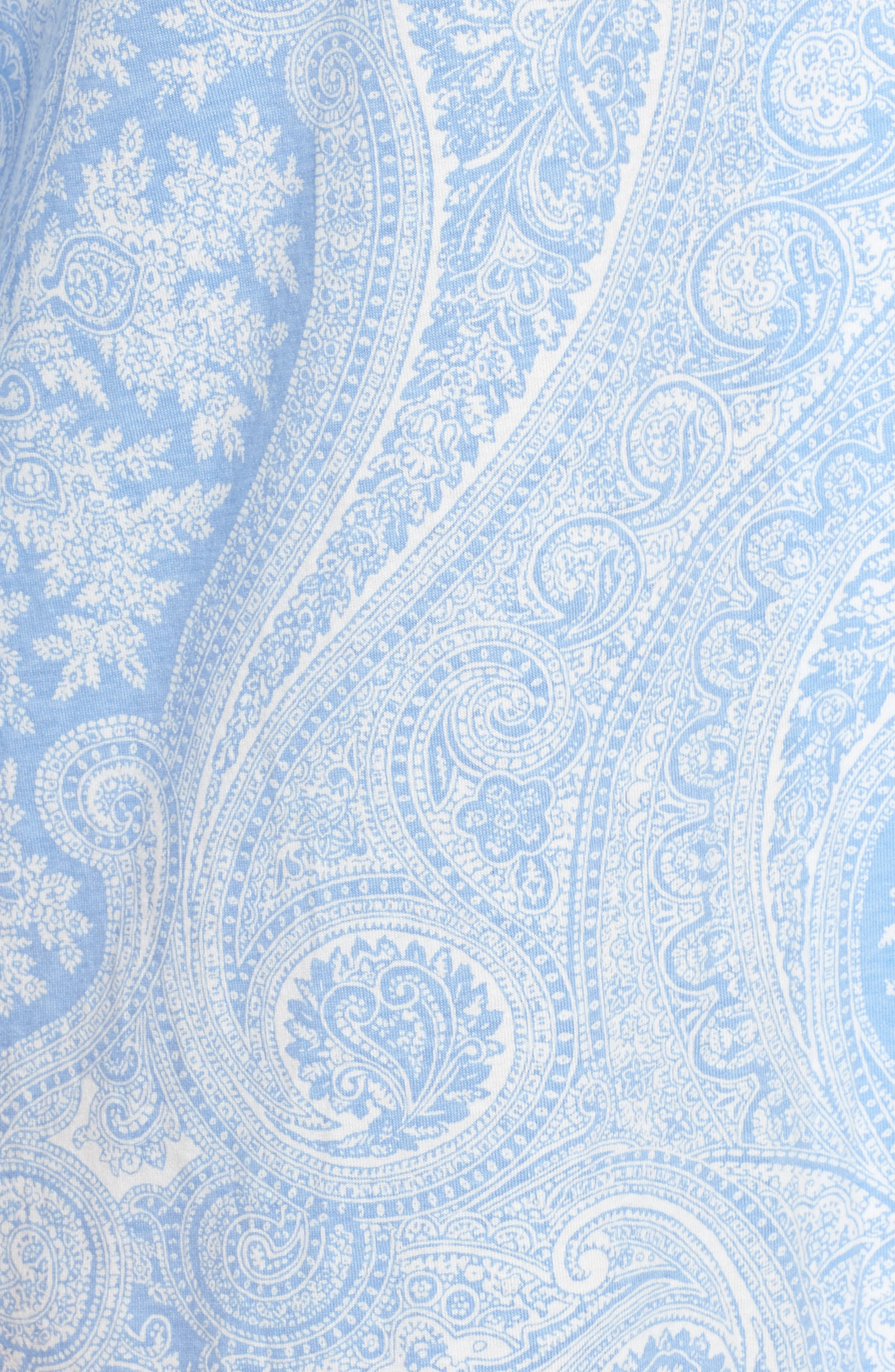 ,                             Jersey Sleep Shirt,                             Alternate thumbnail 5, color,                             BLUE PAISLEY