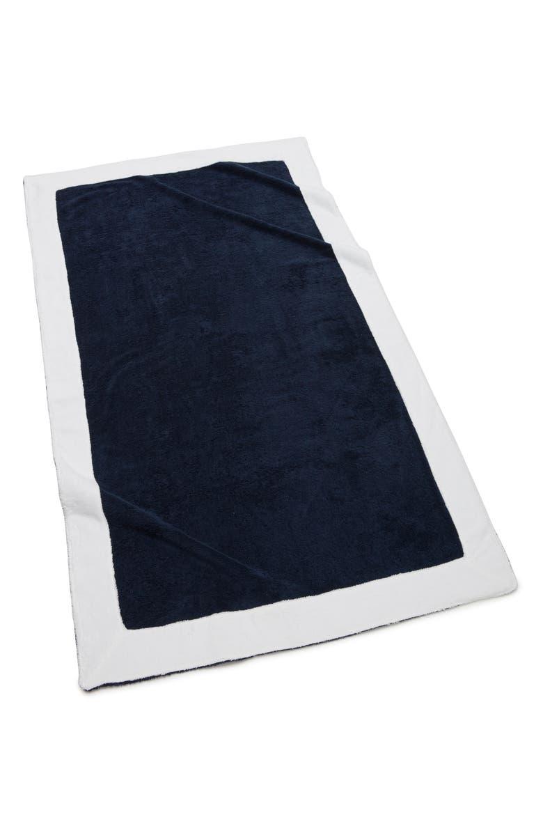 KASSATEX Capri Bath Towel, Main, color, NAVY