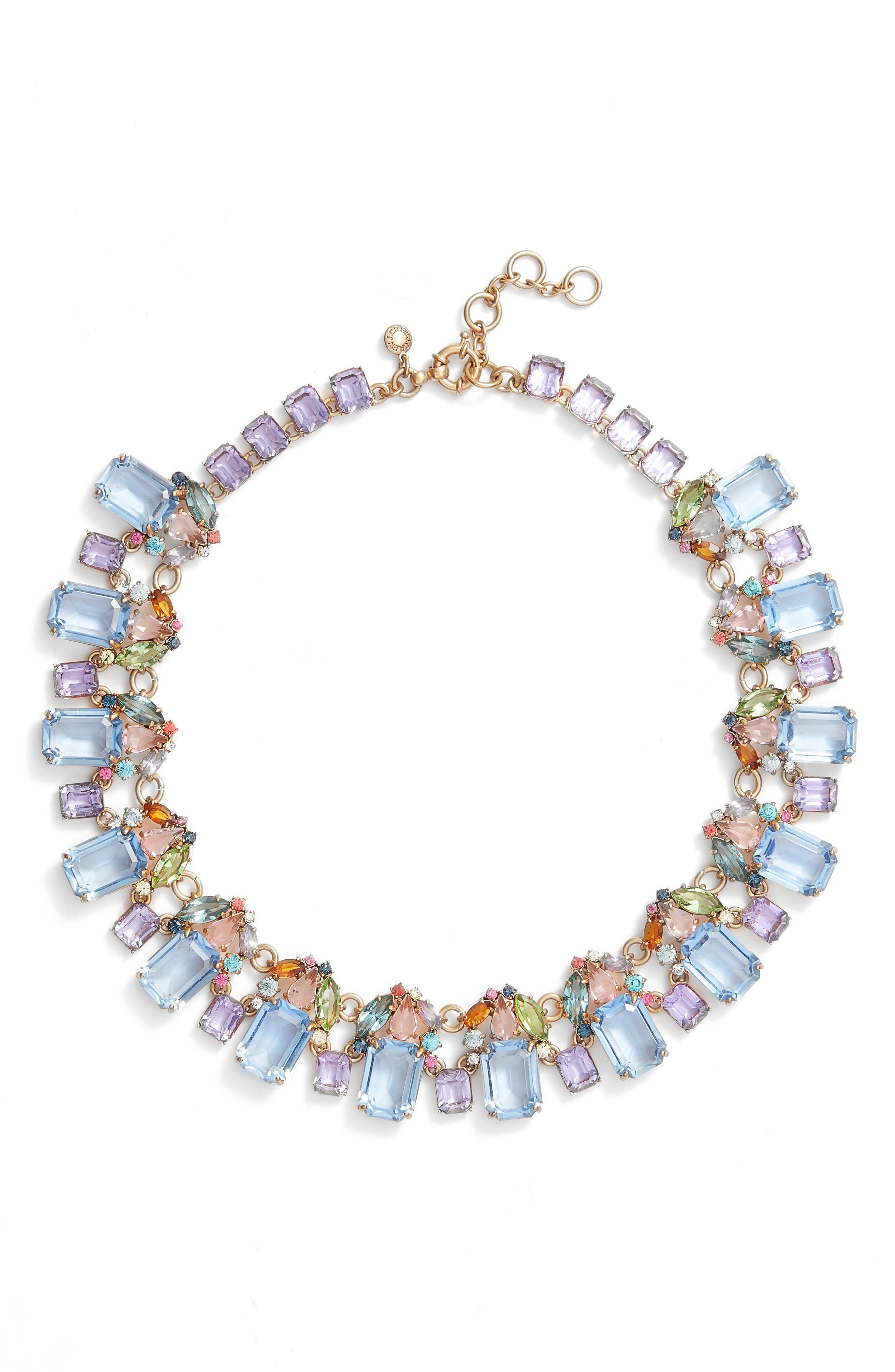 ,                             J. Crew Glass Bead Necklace,                             Main thumbnail 5, color,                             710