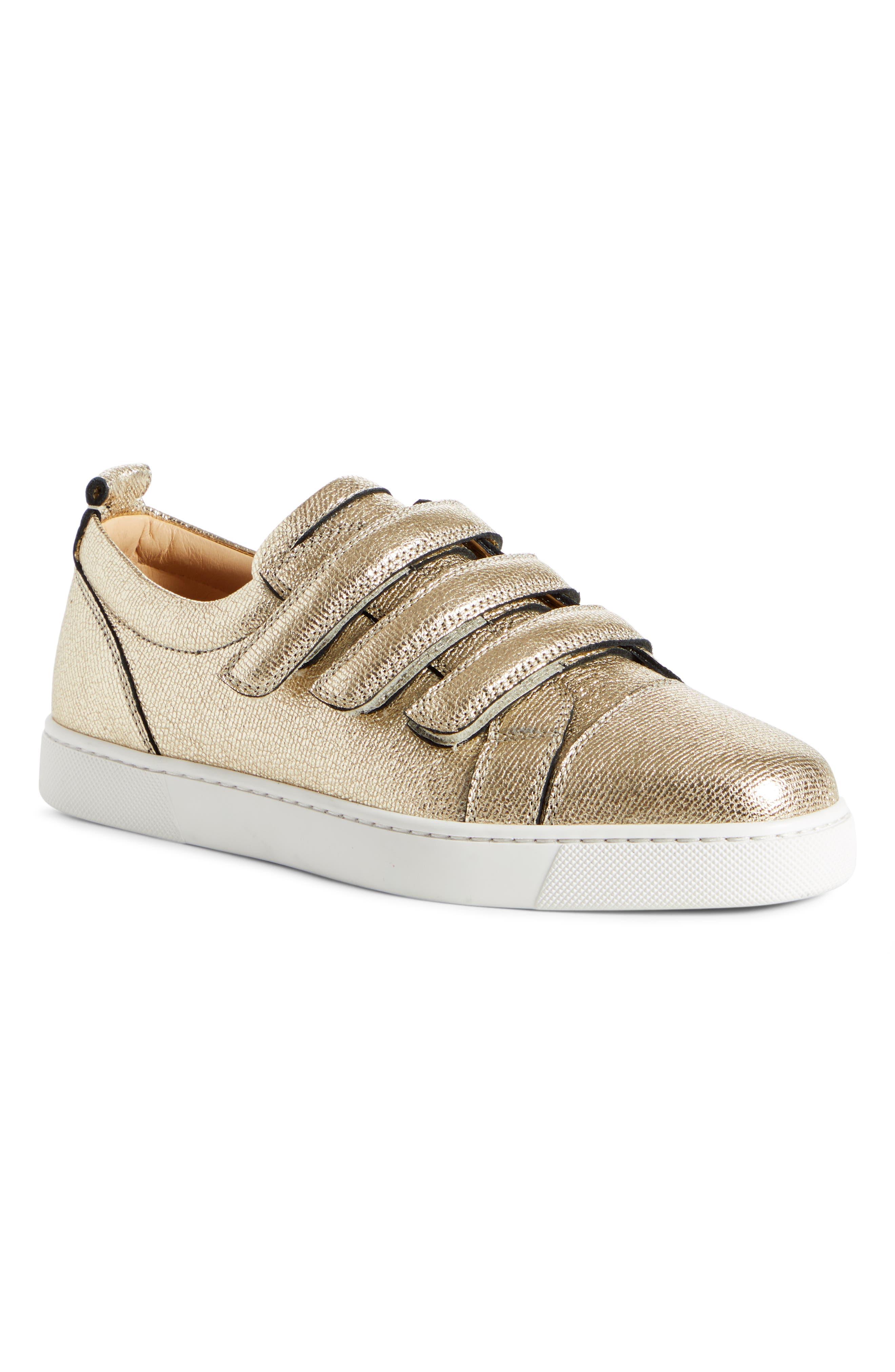 Christian Louboutin Kiddo Donna Three Strap Leather Sneakers