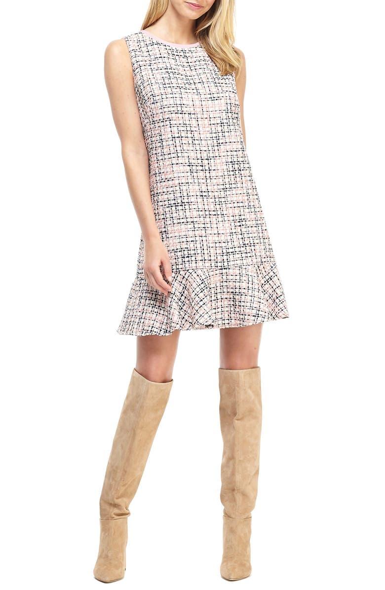 Annika Tweed Ruffle Hem Shift Dress by Gal Meets Glam Collection