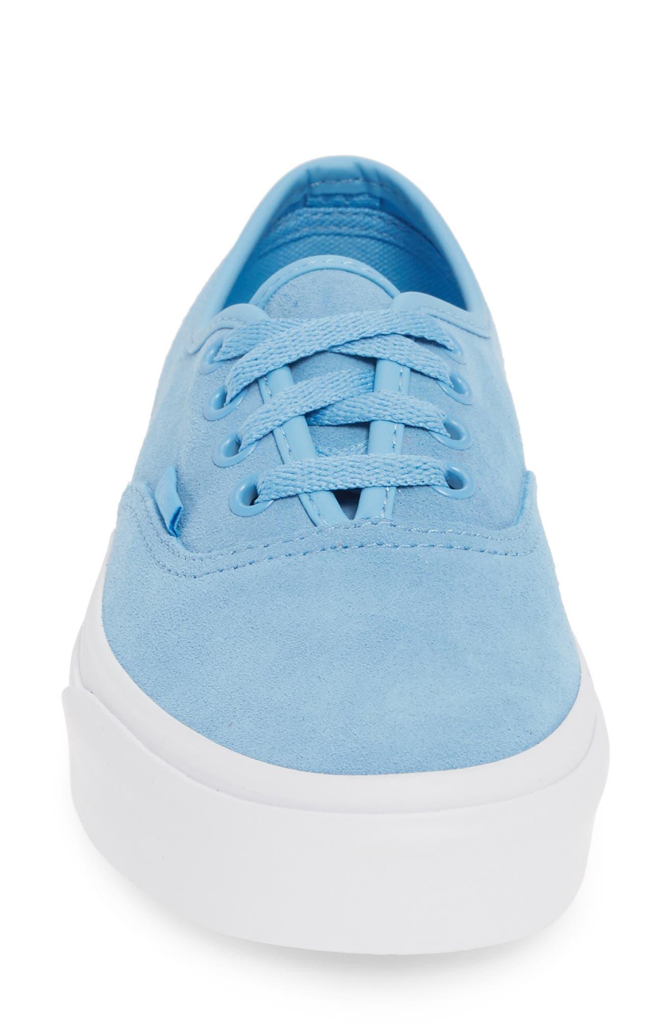 ,                             Authentic Soft Suede Sneaker,                             Alternate thumbnail 4, color,                             ALASKAN BLUE/ TRUE WHITE