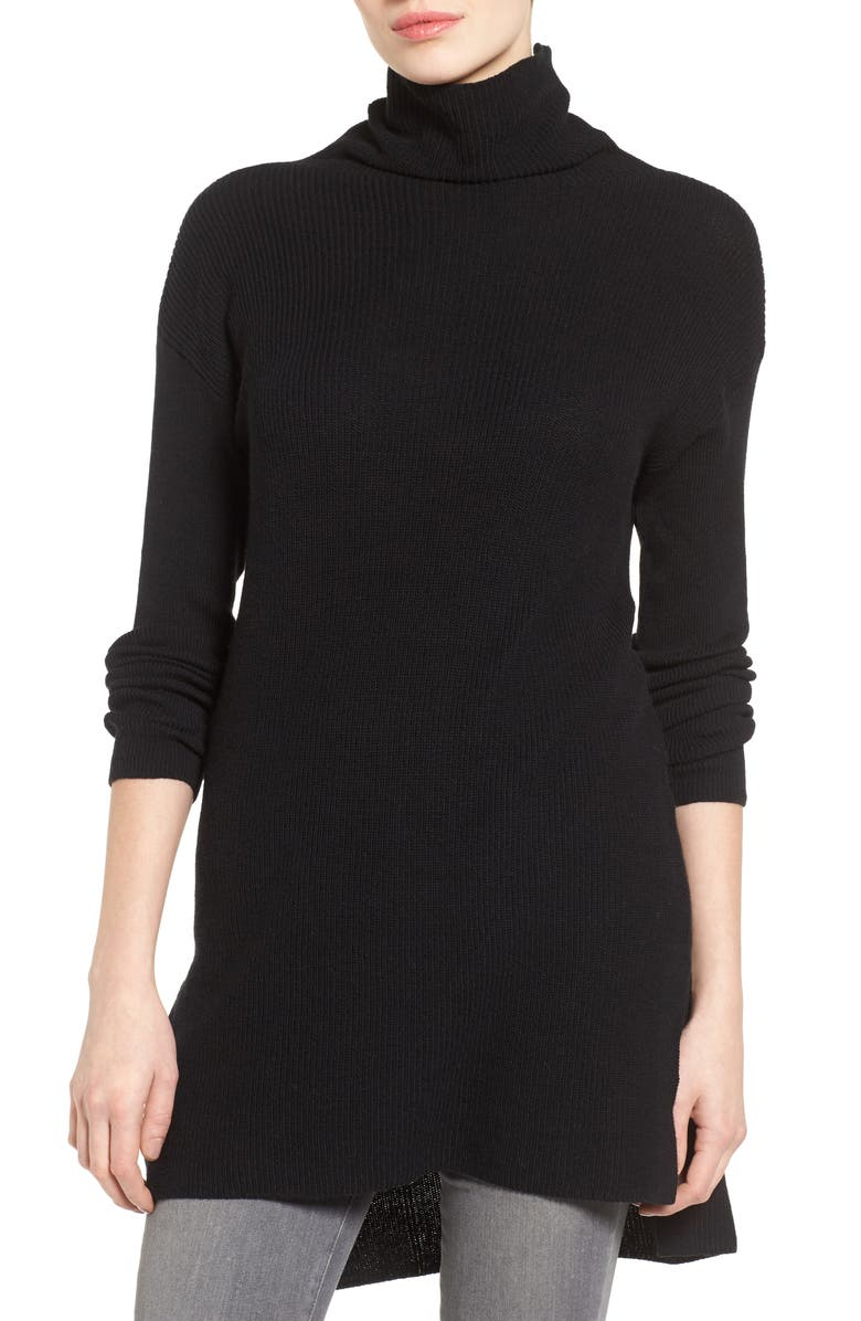 HALOGEN<SUP>®</SUP> Funnel Neck Tunic, Main, color, 001