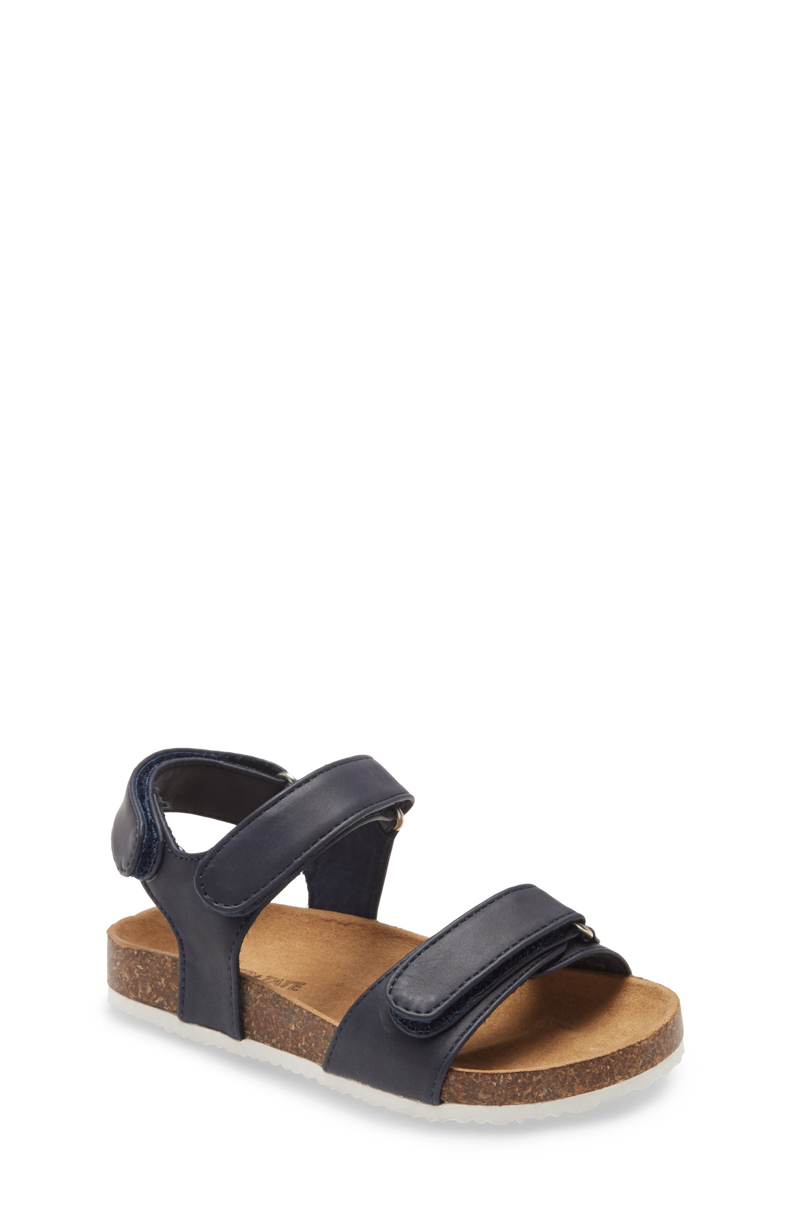 Your little one will love running through a sunny day in this lightweight sandal with a supportive, contoured footbed and adjustable just-right straps. Style Name: Tucker + Tate Double Strap Sandal (Walker & Toddler). Style Number: 5941052. Available in stores.