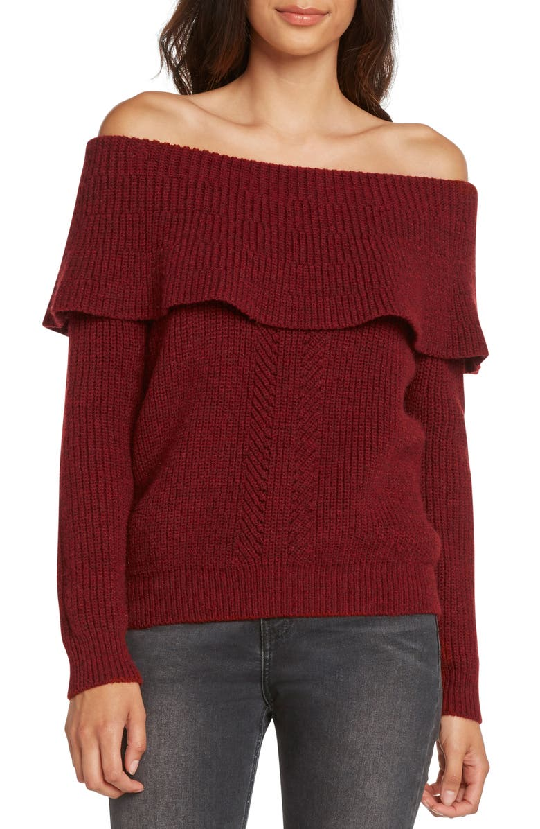 ZZDNU WILLOW & CLAY Willow & Clay Off the Shoulder Sweater, Main, color, 600
