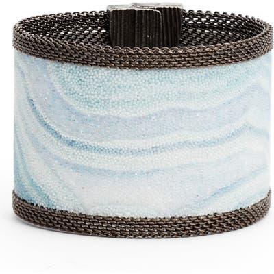 Cynthia Desser Wide Swarovski Crystal Bracelet