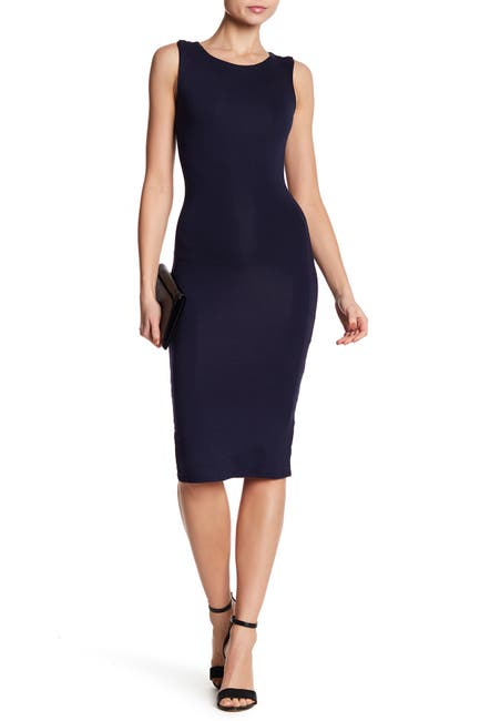 Image of Velvet Torch Racerback Bodycon Midi Dress