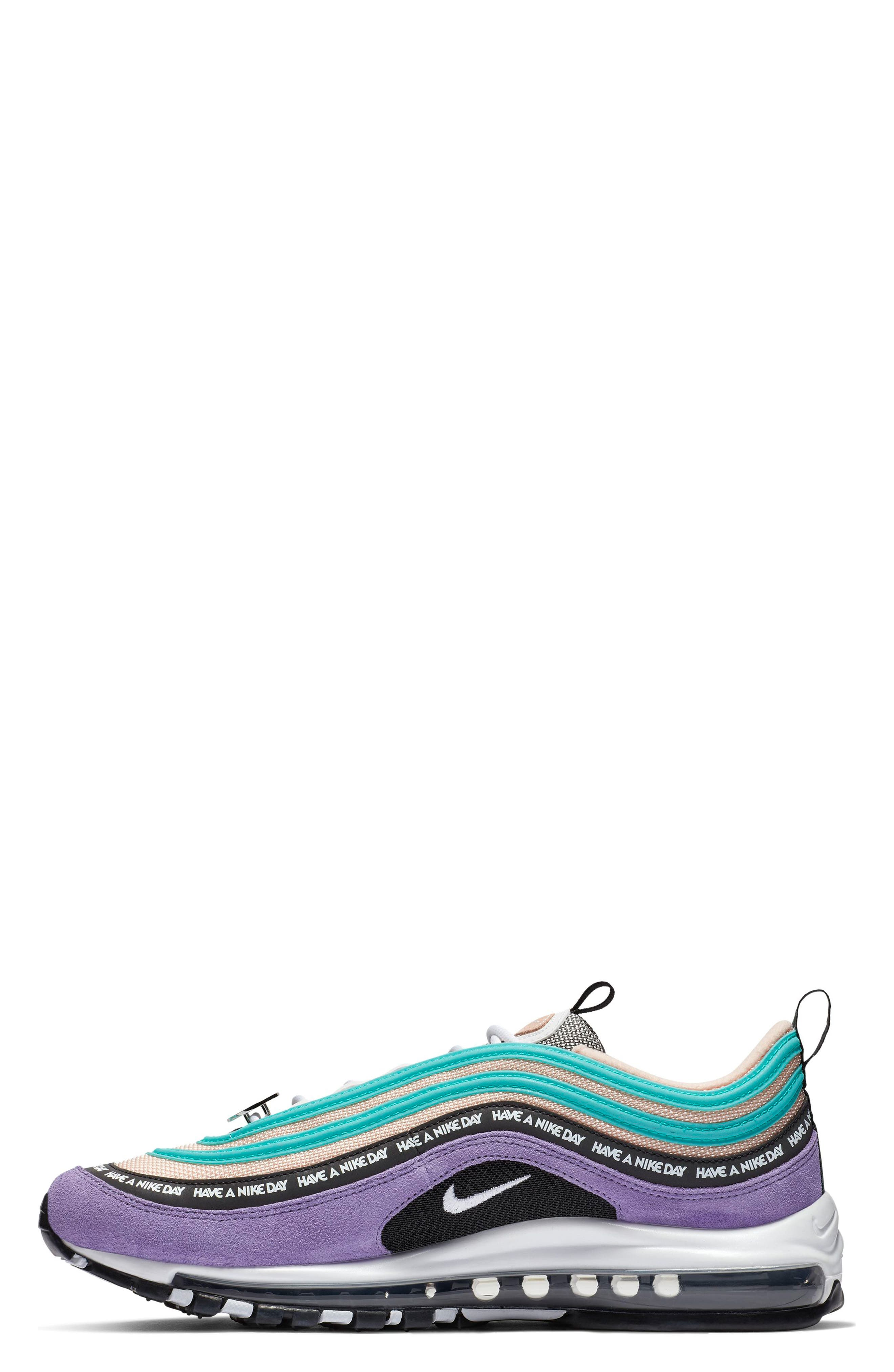 ,                             Air Max 97 Have a Nike Day Sneaker,                             Alternate thumbnail 3, color,                             SPACE PURPLE/ WHITE