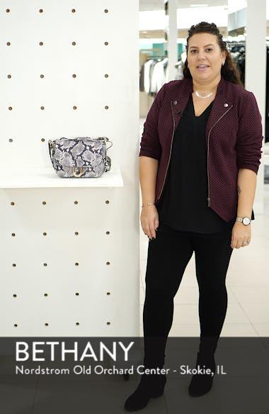 Harper Snake Embossed Leather Crossbody Bag, sales video thumbnail