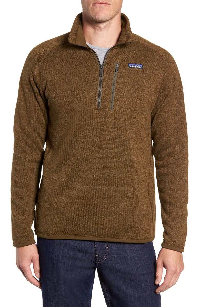 PATAGONIA Better Sweater Quarter Zip Fleece Lined Pullover, Main, color, 202