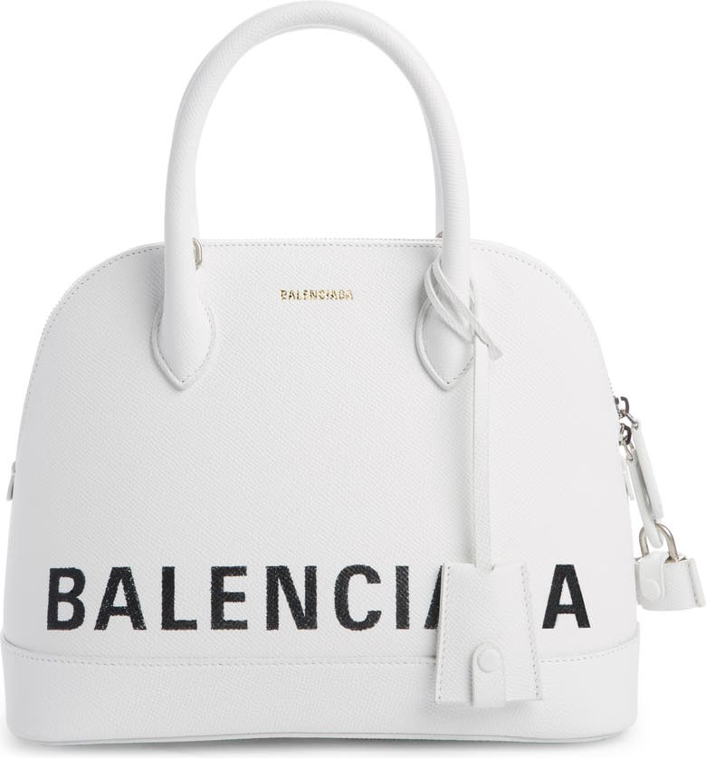 BALENCIAGA Small Vile Calfskin Satchel, Main, color, 120