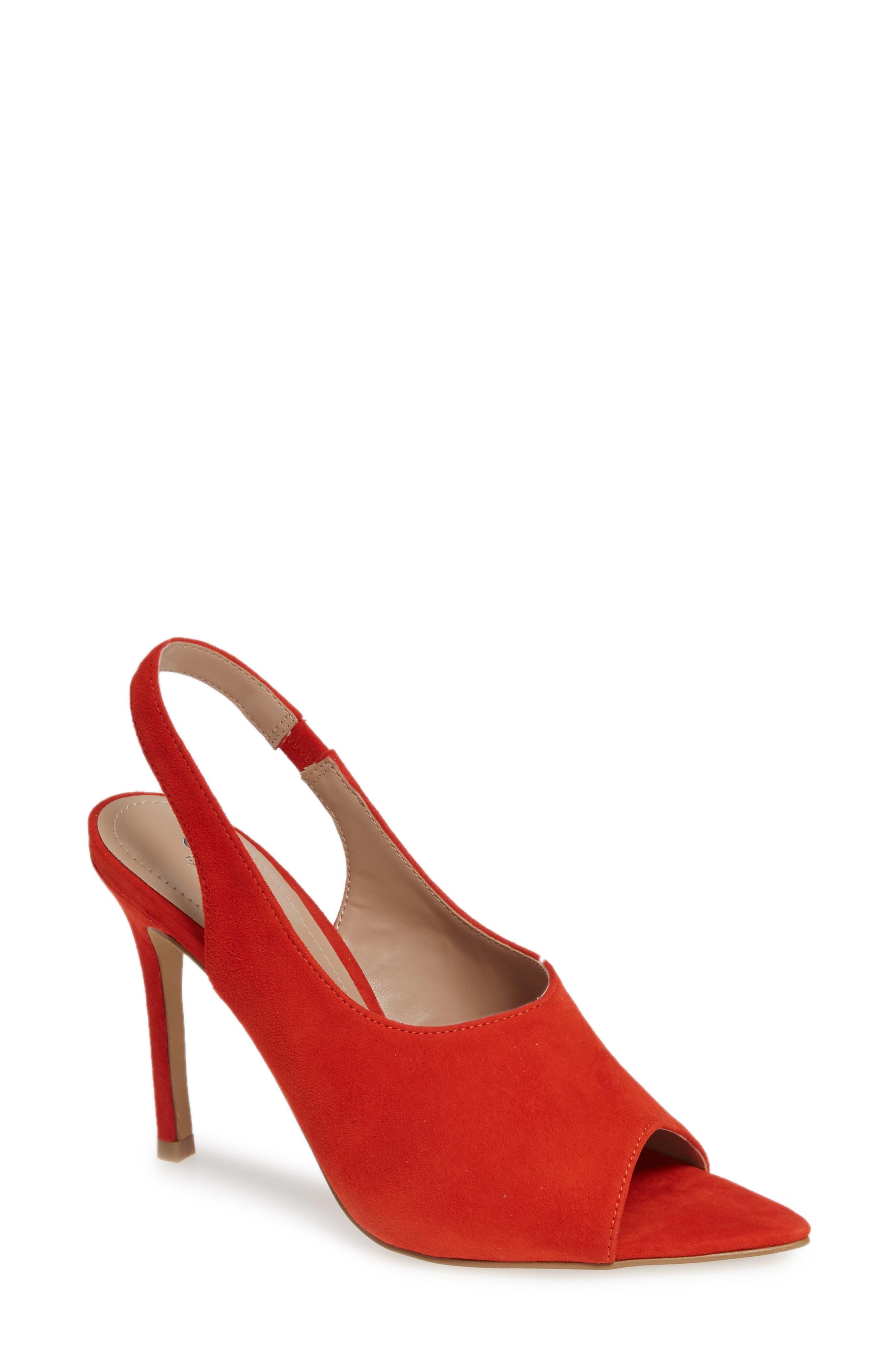 Charles By Charles Davis Trapp Slingback Sandal, Red
