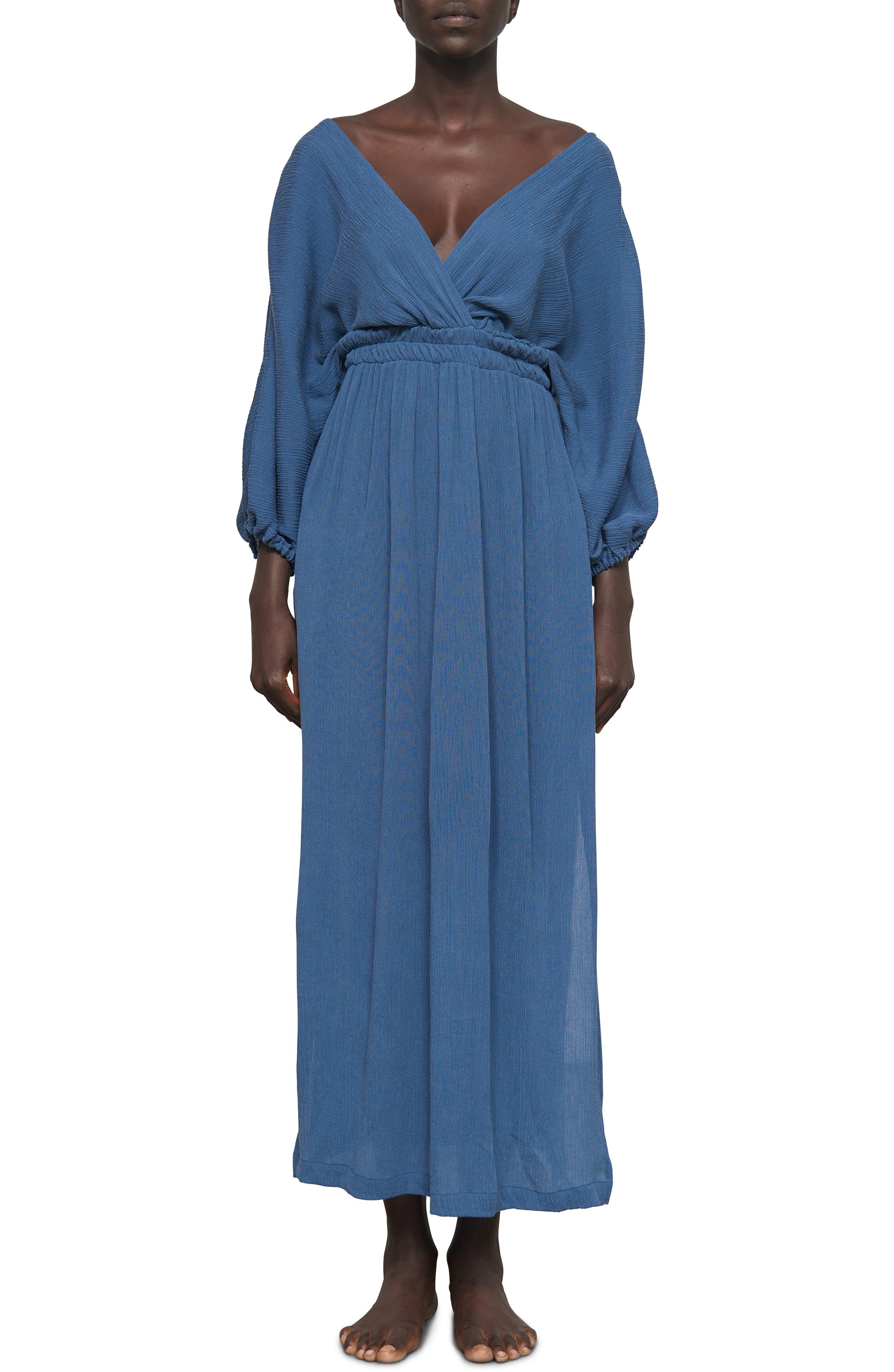 Mara Hoffman Nami Cover-Up Maxi Dress, Blue