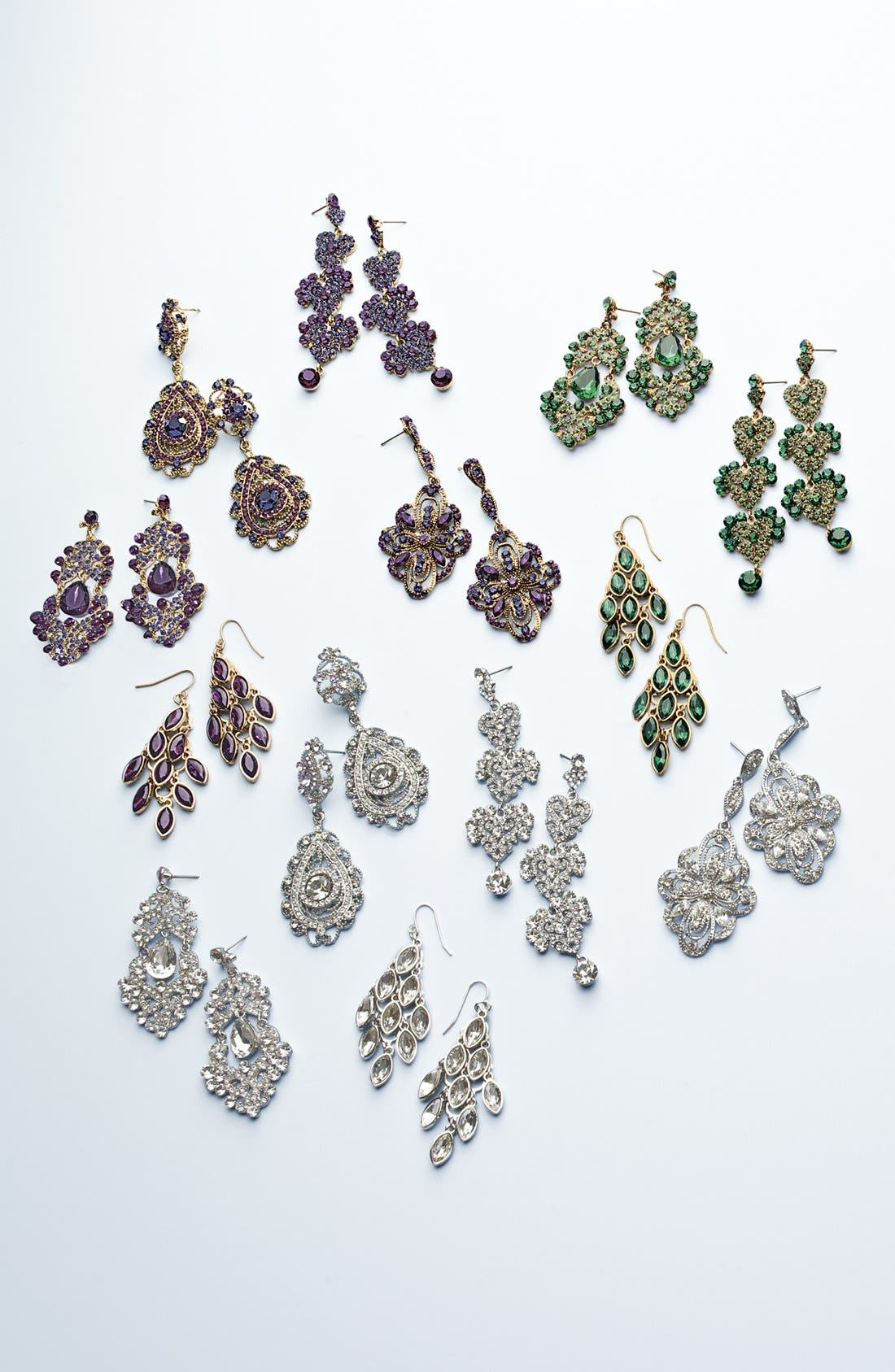 ,                             Ornate Chandelier Earrings,                             Alternate thumbnail 3, color,                             001