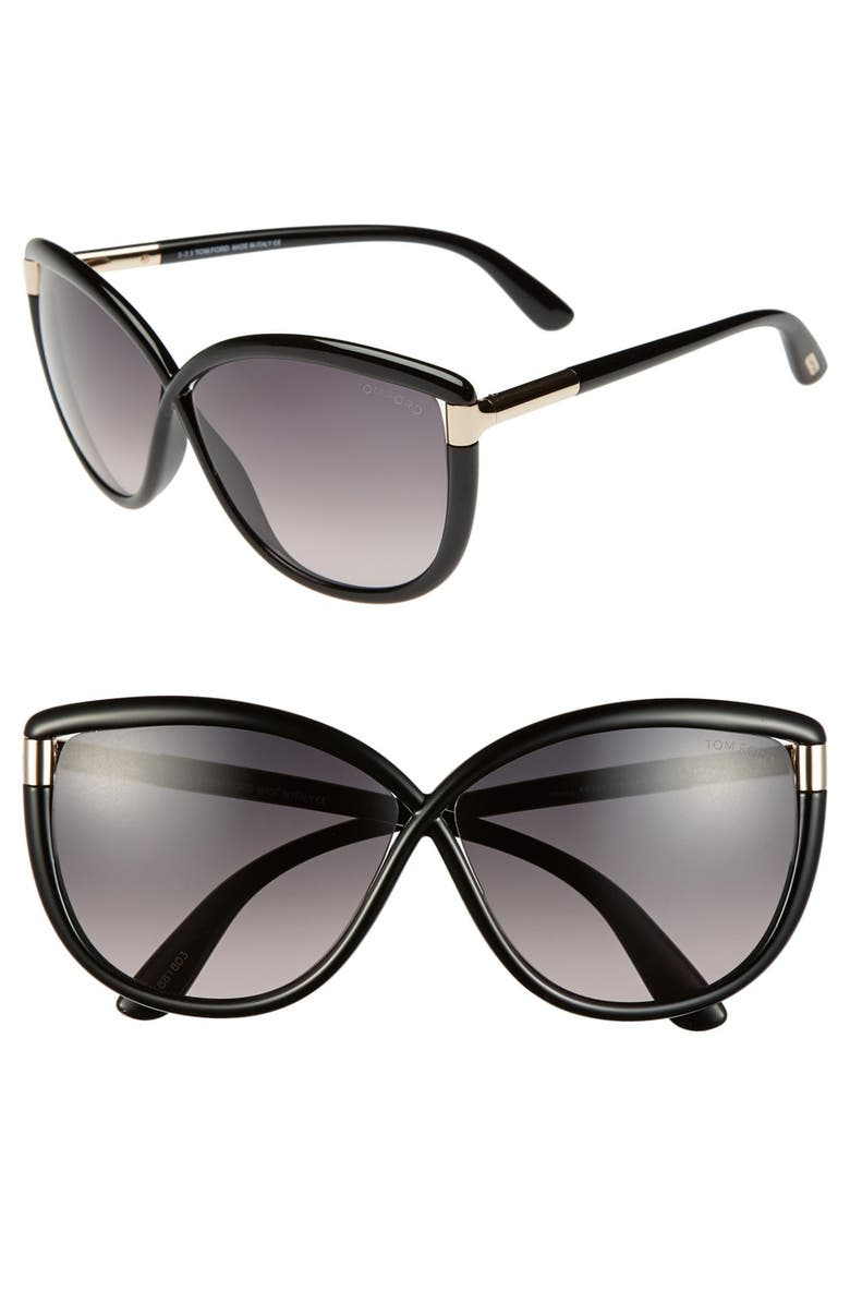 TOM FORD 'Abbey' 63mm Oversized Sunglasses, Main, color, 018