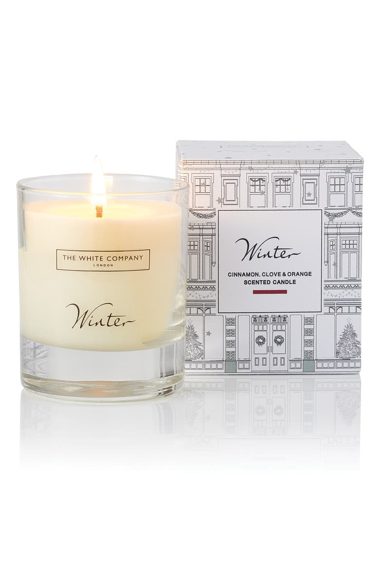 THE WHITE COMPANY Winter Signature Candle, Main, color, WHITE
